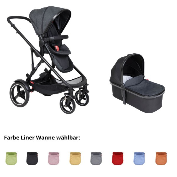 PHIL AND TEDS Voyager buggy V6 black mit einer Wanne