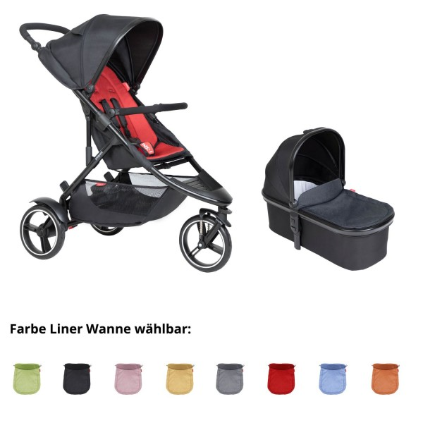 PHIL AND TEDS Dot buggy V6 chilli mit Wanne