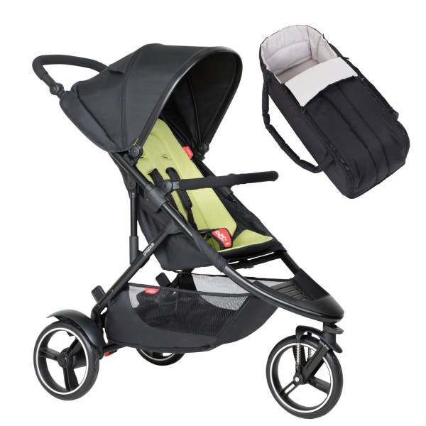 PHIL AND TEDS Dot buggy V6 apple mit Cocoon