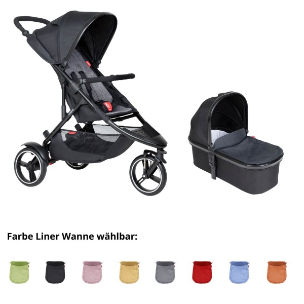 PHIL AND TEDS Dot buggy V6 charcoal mit Wanne