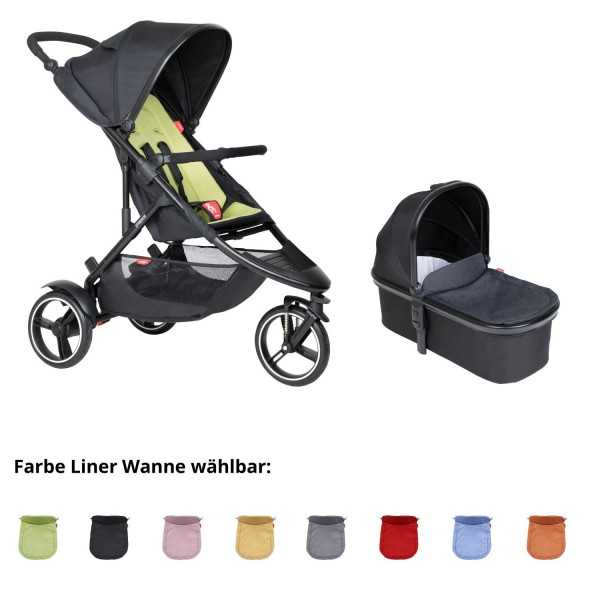PHIL AND TEDS Dot buggy V6 apple mit Wanne
