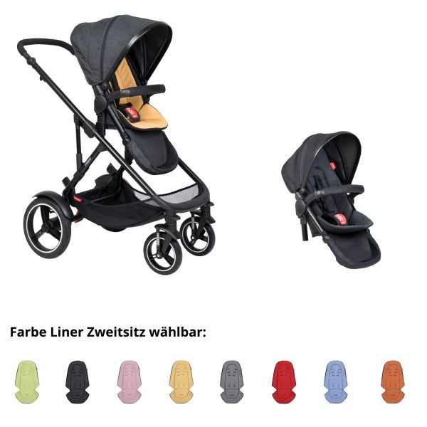 PHIL AND TEDS Voyager buggy V6 butterscotch double mit Zweitsitz