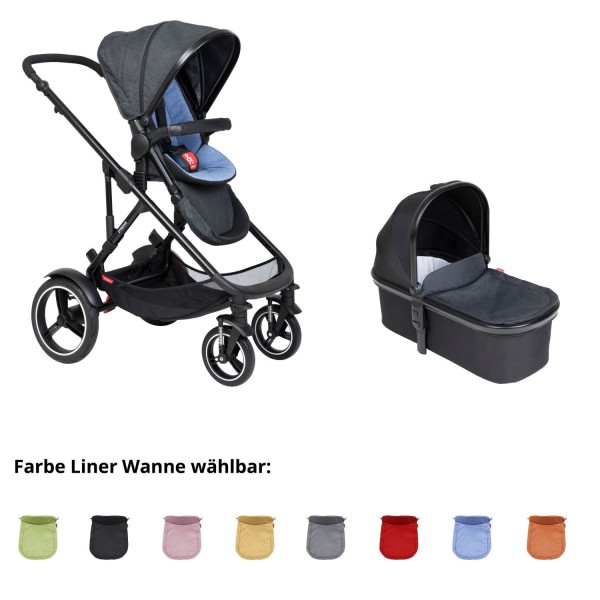 PHIL AND TEDS Voyager buggy V6 sky mit einer Wanne