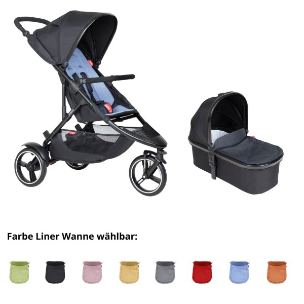 PHIL AND TEDS Dot buggy V6 sky mit Wanne