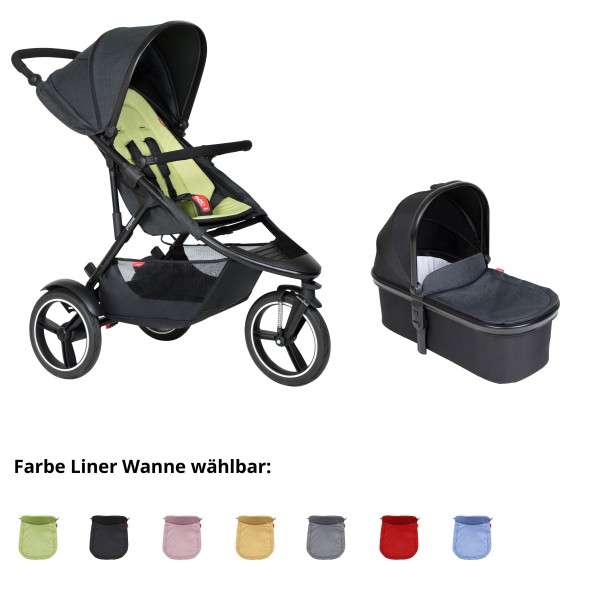 PHIL AND TEDS Sport Buggy V6 apple mit Wanne