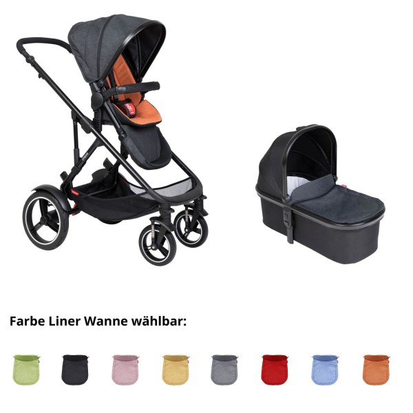 PHIL AND TEDS Voyager buggy V6 rust mit einer Wanne