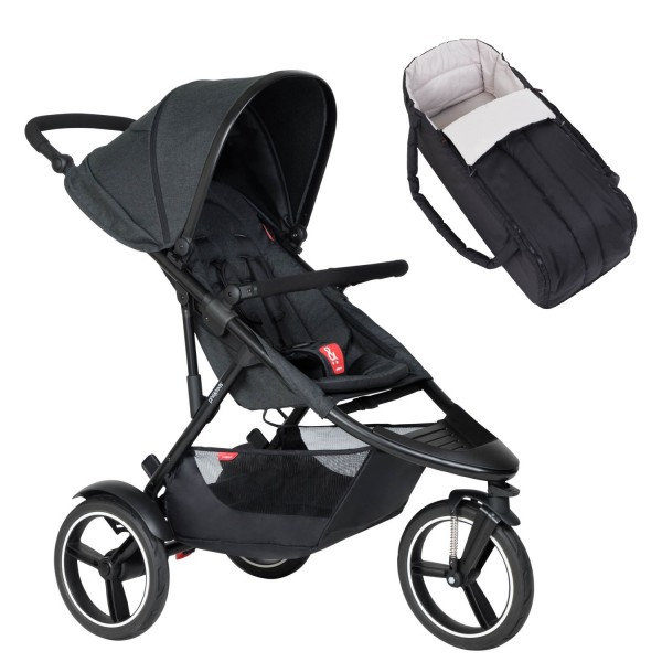 PHIL AND TEDS Dash buggy V6 black mit Cocoon