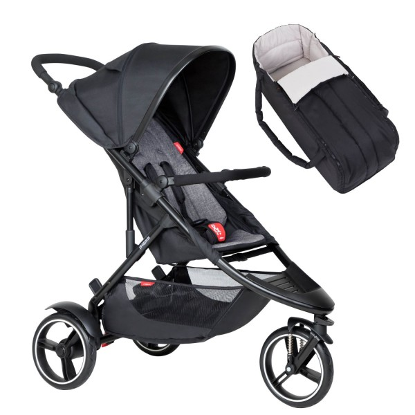 PHIL AND TEDS Dot buggy V6 charcoal mit Cocoon