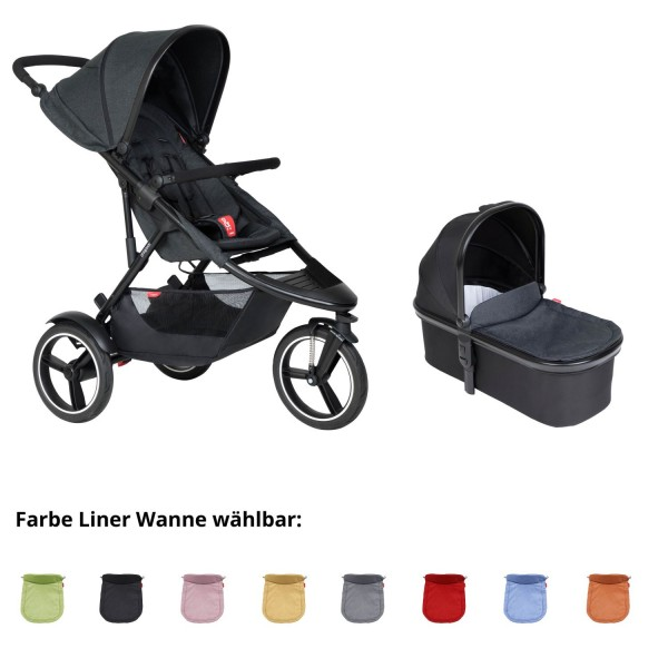 PHIL AND TEDS Dash buggy V6 black mit Wanne