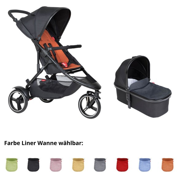 PHIL AND TEDS Dot buggy V6 rust mit Wanne