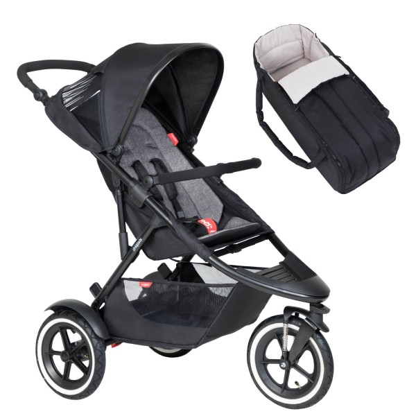 PHIL AND TEDS Sport Buggy V6 charcoal mit Coocon