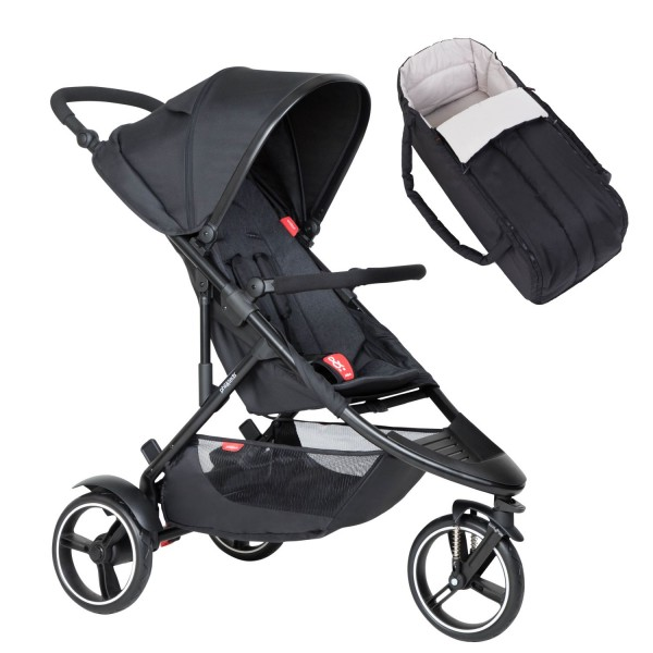 PHIL AND TEDS Dot buggy V6 black mit Cocoon