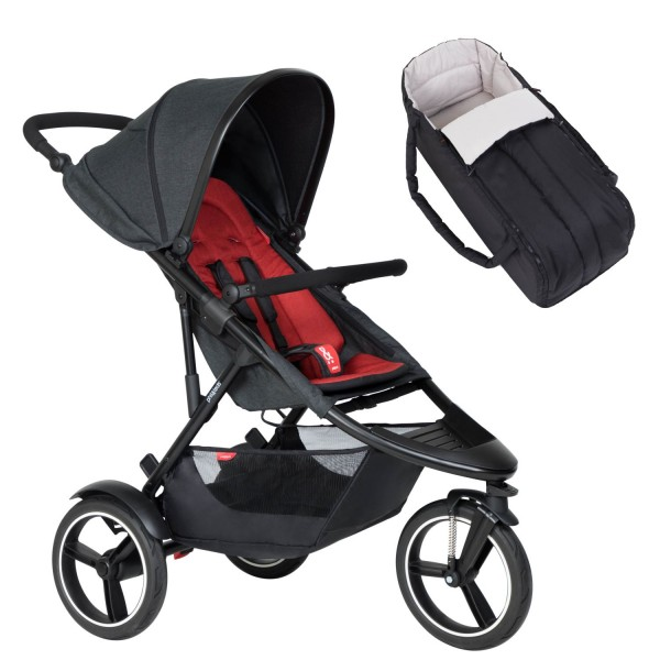 PHIL AND TEDS Dash buggy V6 chilli mit Cocoon