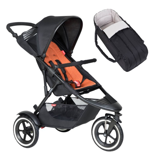 PHIL AND TEDS Sport Buggy V6 rust mit Coocon