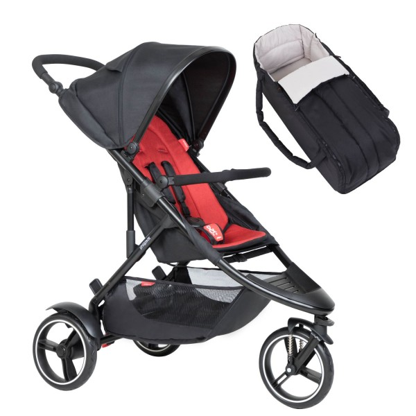 PHIL AND TEDS Dot buggy V6 chilli mit Cocoon