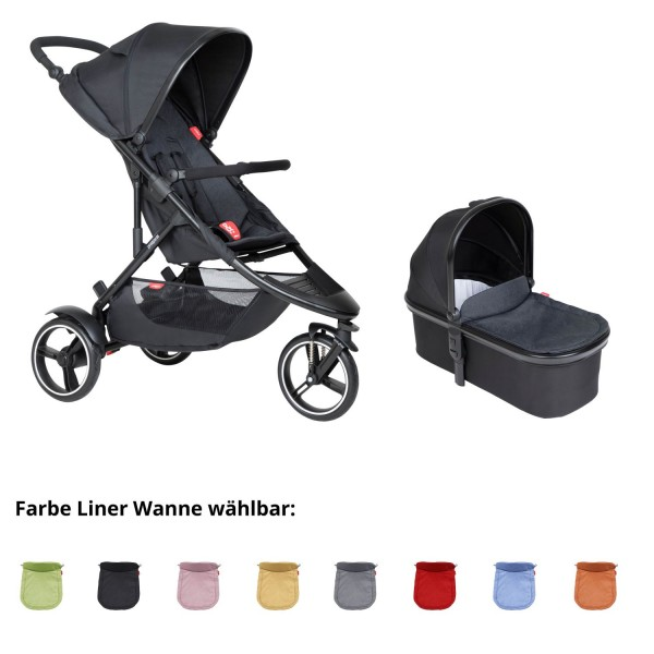 PHIL AND TEDS Dot buggy V6 black mit Wanne