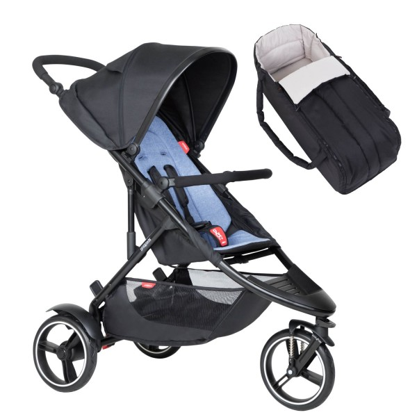 PHIL AND TEDS Dot buggy V6 sky mit Cocoon