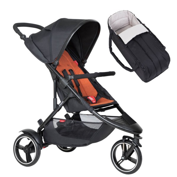 PHIL AND TEDS Dot buggy V6 rust mit Cocoon