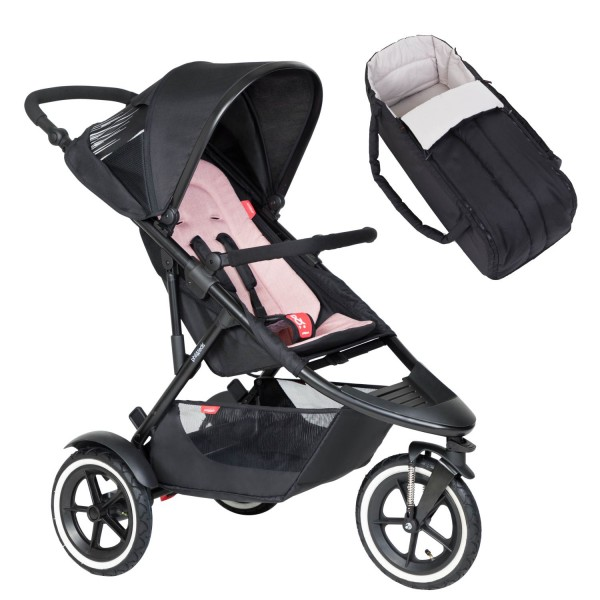 PHIL AND TEDS Sport Buggy V6 blush mit Coocon